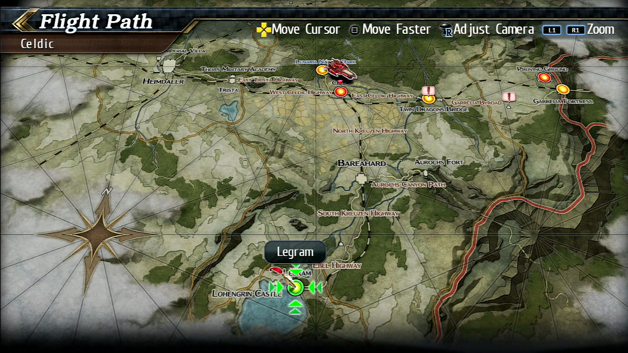 Trails Of Cold Steel World Map.The Legend Of Heroes Trails Of Cold Steel Ii